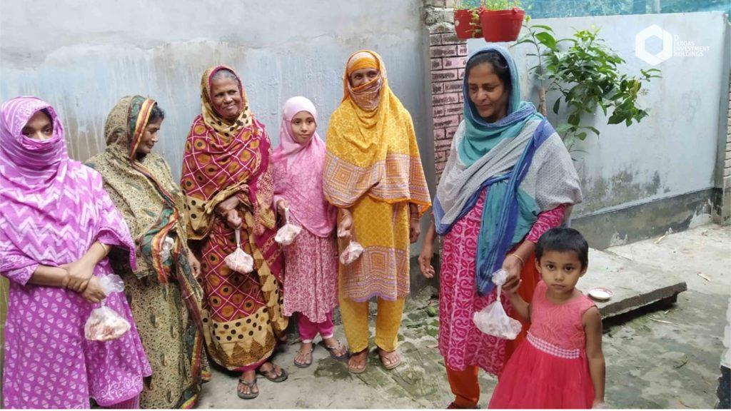 Distribution to the needy in Munshiganj, Bangladesh