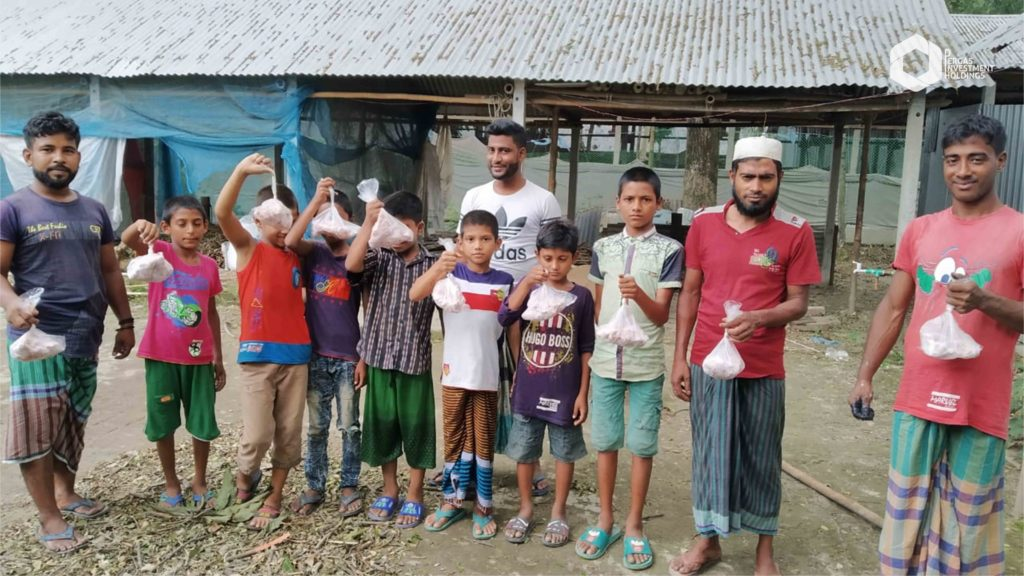 Distribution to the needy in Munshiganj, Bangladesh